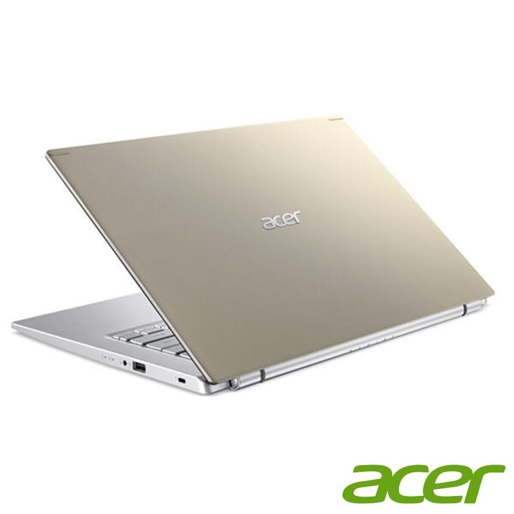 (升級12G,雙碟)Acer A514-54G-56X3 14吋筆電(I5-1135G7/MX350/8G+4G/1TB HDD+256G SSD/金/特仕版)