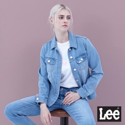 Lee 牛仔外套 基本版型-女-淺藍