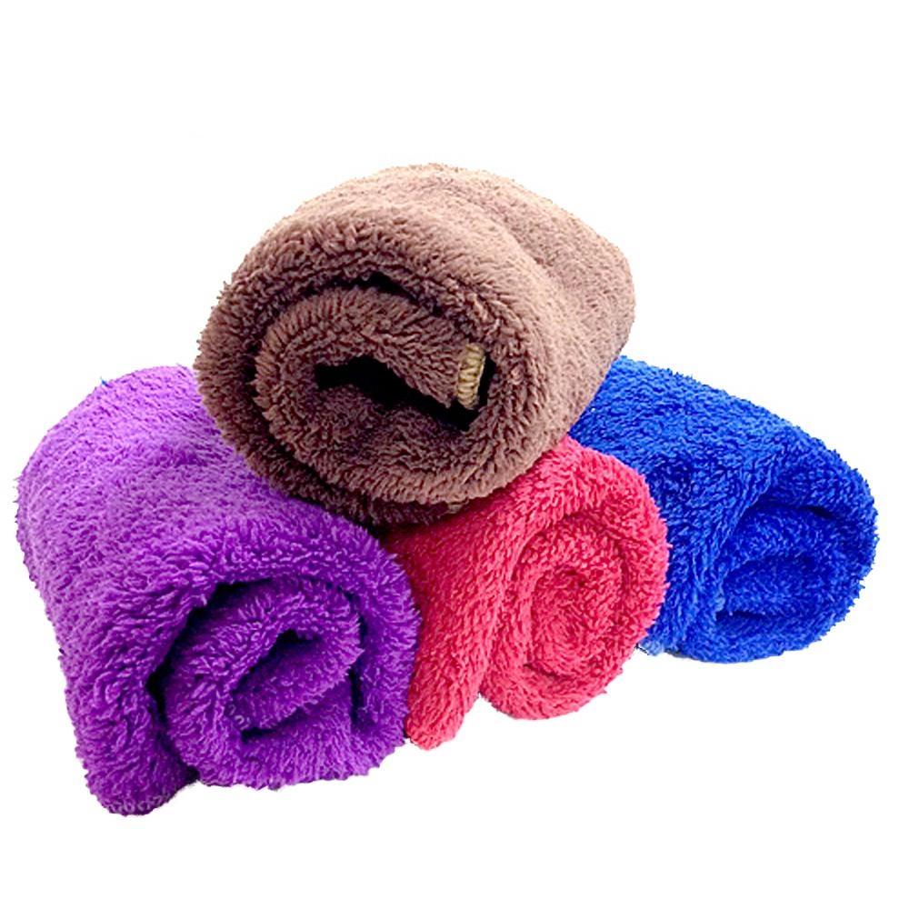 金德恩 台灣製造 4條棉柔款288針超強吸水力柔軟蓬鬆纖維擦拭抹布30x30cm