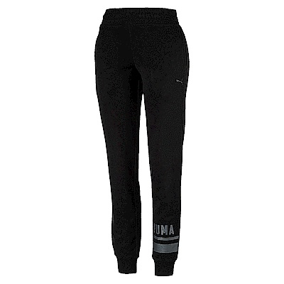 PUMA-女性基本系列Athletic長褲-黑色-亞規