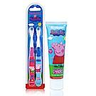 美國熱銷卡通 Peppa Pig 2入兒童牙刷+4.2oz牙膏組(軟毛/適3歲以上)