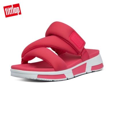 FitFlop ELSA PADDED-STRAP SLIDES造型運動風涼鞋-女(亮粉色)