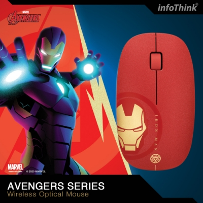 InfoThink 復仇者聯盟系列無線光學滑鼠 - 鋼鐵人