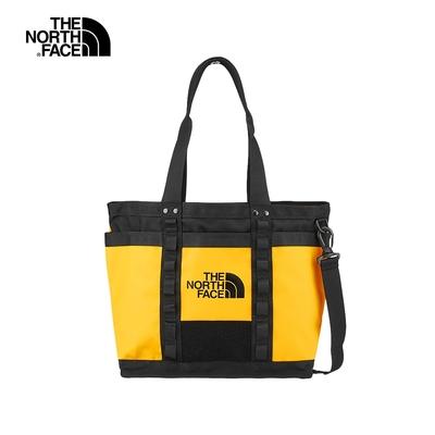 【經典ICON】The North Face北面男女款黃黑色休閒側肩兩用背包|3KZUZU3