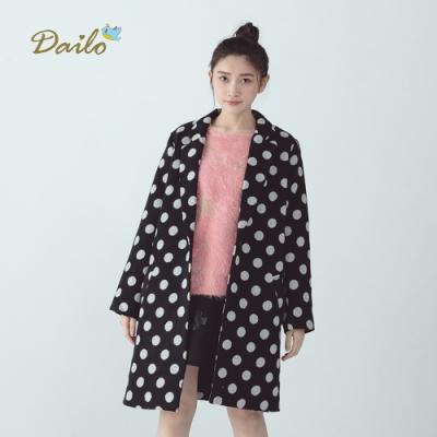 新降【Dailo】波卡點點長版西裝-外套(三色)