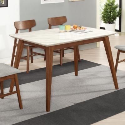 Boden-溫克4.3尺胡桃色石面餐桌-130x80x77cm