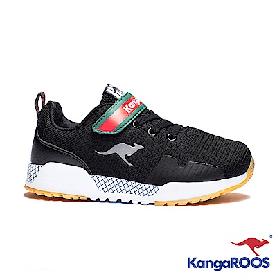 KangaROOS 美國袋鼠鞋 童 EVO 90 輕量運動鞋(黑)