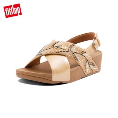 FitFlop LULU CRYSTAL FEATHER BACK STRAP SANDALS 水鑽後帶涼鞋 女(胭脂裸膚)
