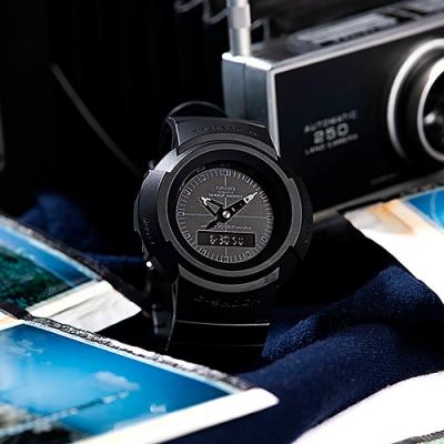 CASIO 卡西歐 G-SHOCK 復刻ONE TONE雙顯計時手錶-黑 AW-500BB-1E