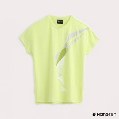 Hang Ten-ThermoContro-女裝幾何機能T恤-蕭青陽設計款-綠