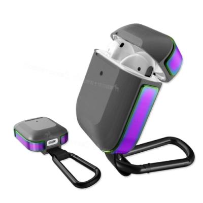 刀鋒TREK Apple Airpods 鋁合金雙料 藍牙耳機盒保護套(躍動流線虹)