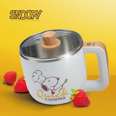【SNOOPY 史努比】吃貨系列-S19雙層防燙快煮鍋