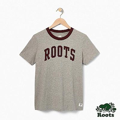 Roots -女裝- 費里蘭短袖上衣 - 灰