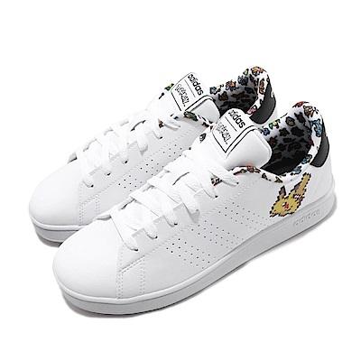 adidas 休閒 Advantage K 寶可夢 女鞋