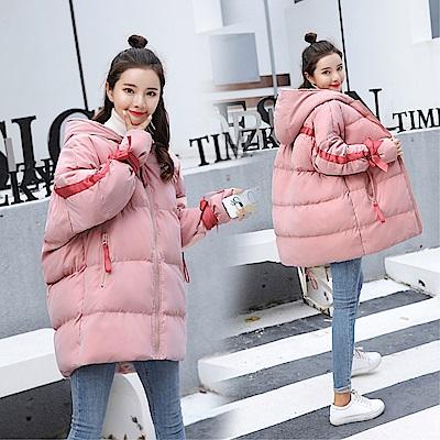 DABI 韓國學院風學生連帽寬松加厚棉服單品外套 @ Y!購物