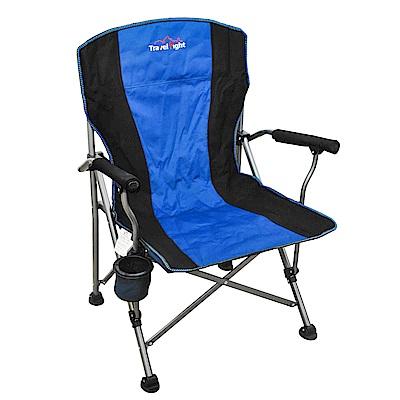 大型戶外加厚耐重折疊椅/大川椅/導演椅 -藍