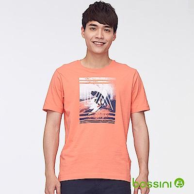 bossini男裝-印花短袖T恤41橘