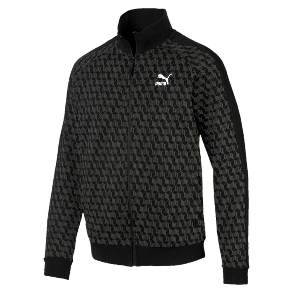 PUMA-男性流行系列Luxe立領外套-黑色-歐規