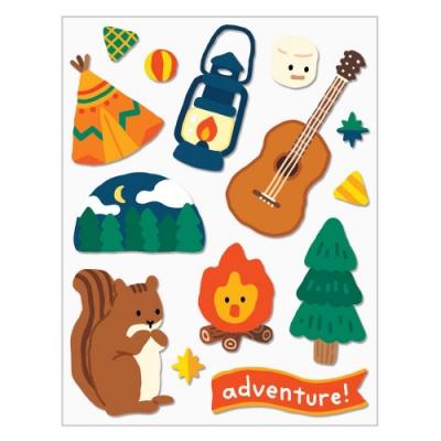 7321 Design GGU GGU手帳裝飾貼紙-松鼠露營