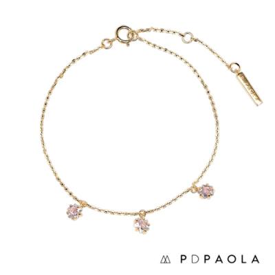 PD PAOLA 西班牙輕奢時尚品牌 閃爍星鑽垂墜手鍊