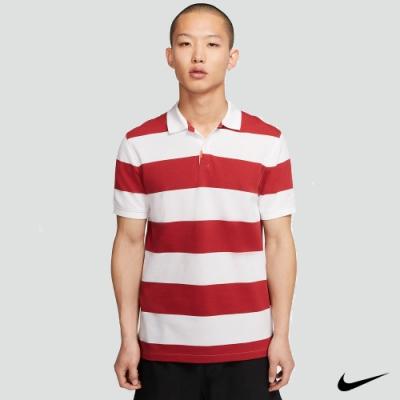Nike  男 短袖粗條紋Polo衫 紅白 BV0380-609