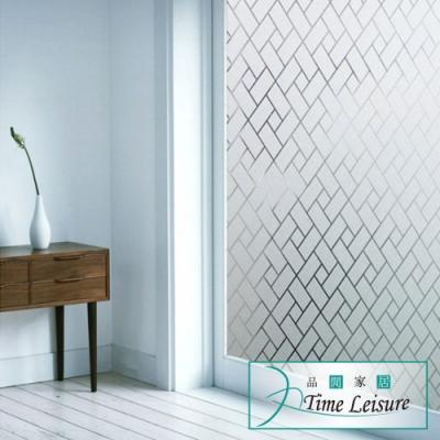 Time Leisure 免膠加厚防曬裝飾玻璃門窗靜電貼 四方菱形