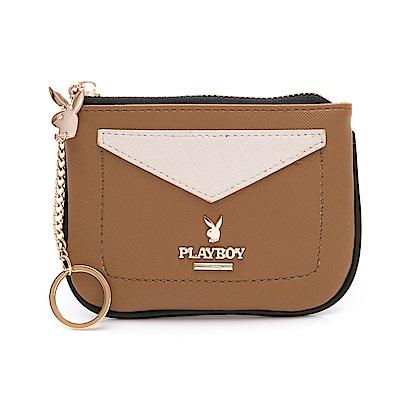PLAYBOY- 零錢包 小時代系列 -駝色