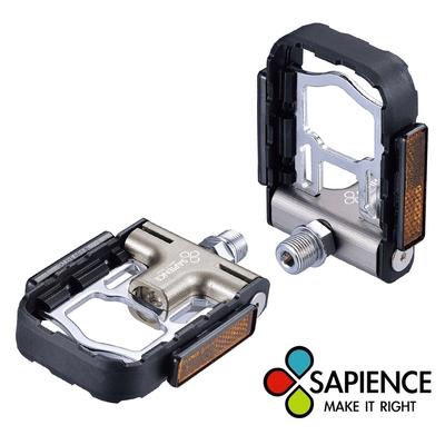 SAPIENCE 專利磁吸式折疊踏板 鋁合金培林踏板(YP-126) -鈦  (快速到貨)