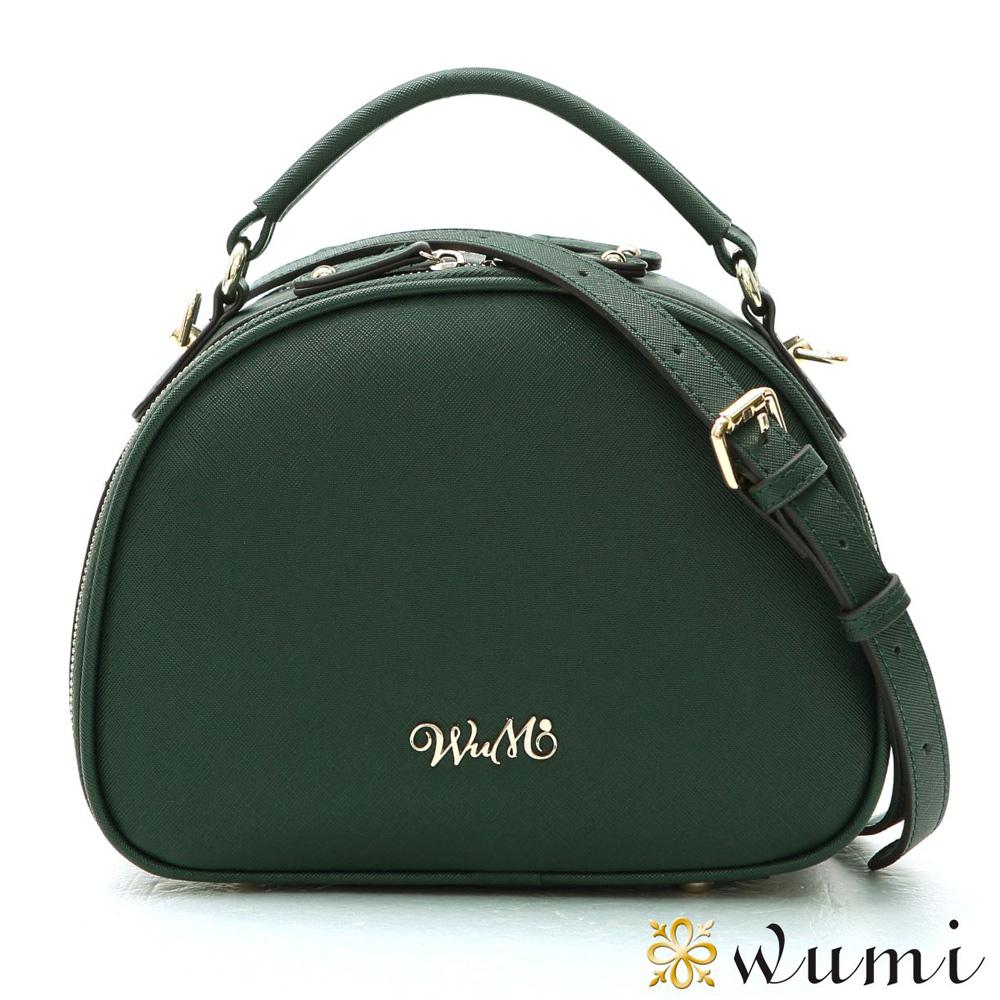 WuMi 無米 哈妮露十字紋手提斜背包  棕櫚綠
