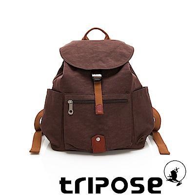 tripose MEMENTO系列微皺尼龍經典輕量後背包(小) 可可咖