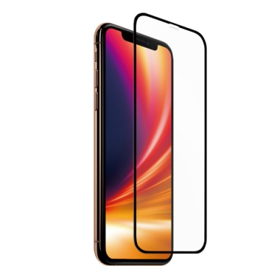 Riivan iPhone X/XS 2.5D滿版鋼化玻璃保護貼-黑(送貼膜神器)