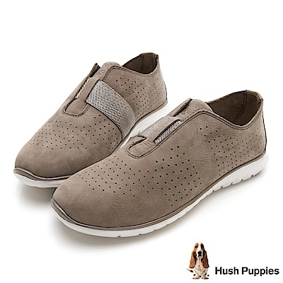 Hush Puppies TRICIA 冬感皮革健走鞋-褐色
