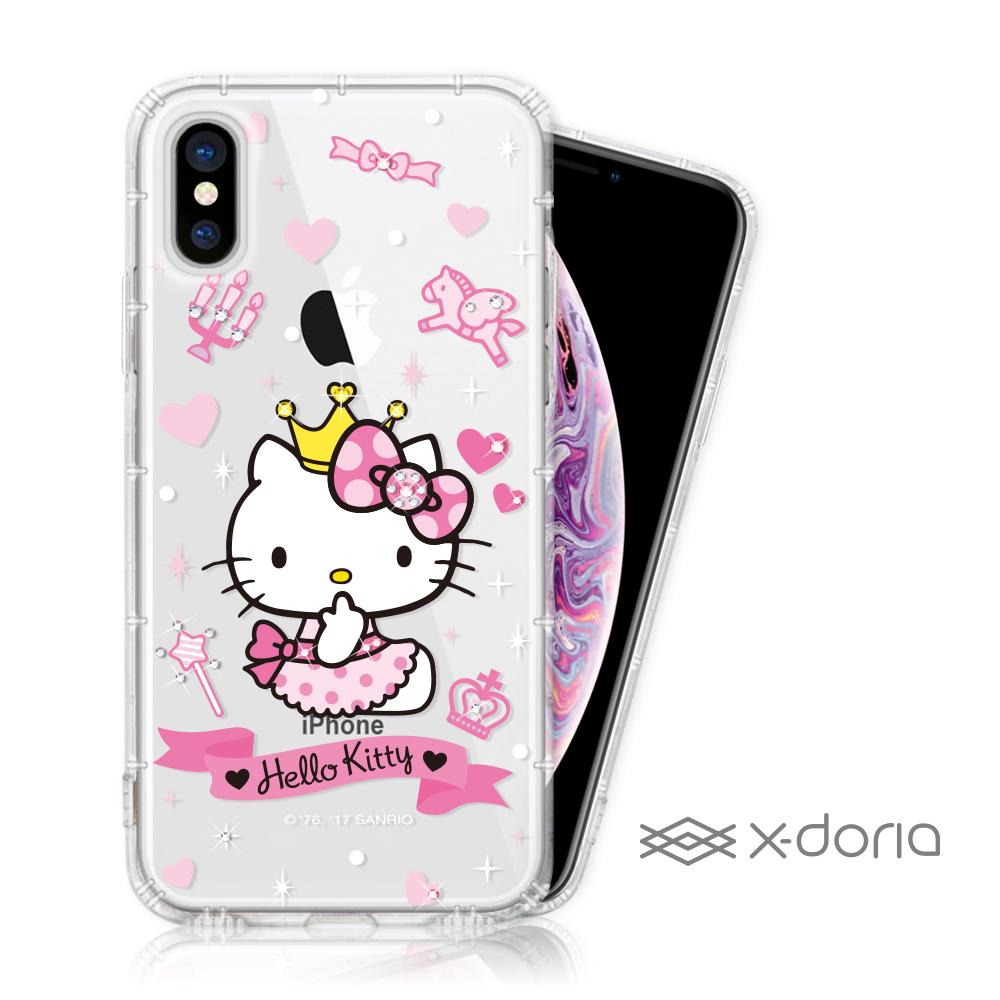 Hello Kitty iPhone Xs Max 彩繪空壓手機鑽殼 - 仙女