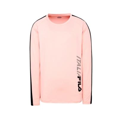 FILA 男抗UV吸濕排汗長袖T恤-粉 1TET-5300-PK