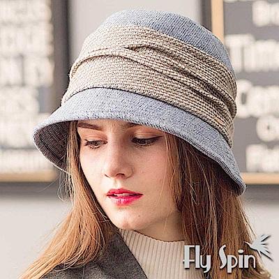 FLYSPIN 保暖羊毛混紡優雅淑女圓邊漁夫冬帽