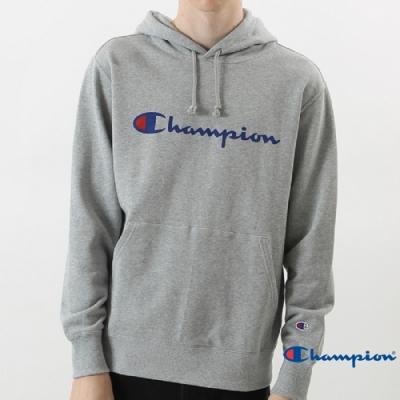 Champion Basic Logo 經典款連帽Tee 灰色