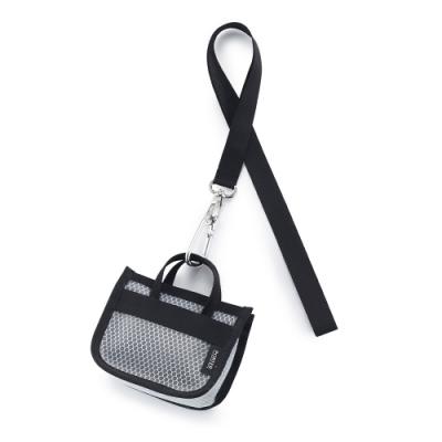 PORTER - 提袋造型頸掛零錢包 - 黑
