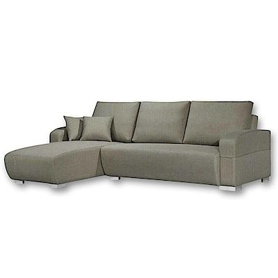 Boden-曼蒂厚亞麻布L型沙發-左右型可選