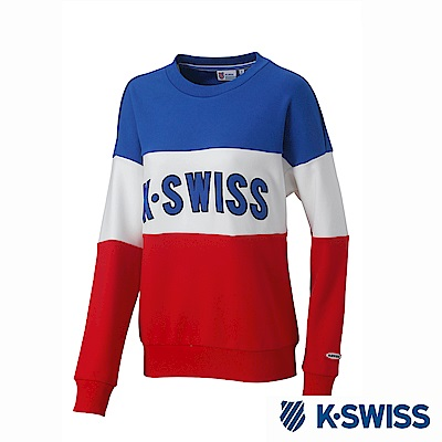 K-SWISS Round Sweat Shirts圓領長袖上衣-女-藍