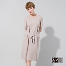 SNS 日常隨興腰綁帶純棉洋裝(2色)