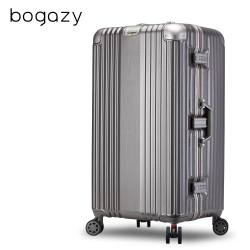 Bogazy 星绽淬鍊 30吋胖胖箱編織紋鋁框行李箱(香檳金)