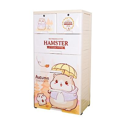 【Mr.box】大面寬-五層抽屜式附輪收納櫃(倉鼠媽媽)