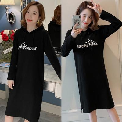 【韓國K.W.】(預購)時尚輕鬆簡約洋裝-2色