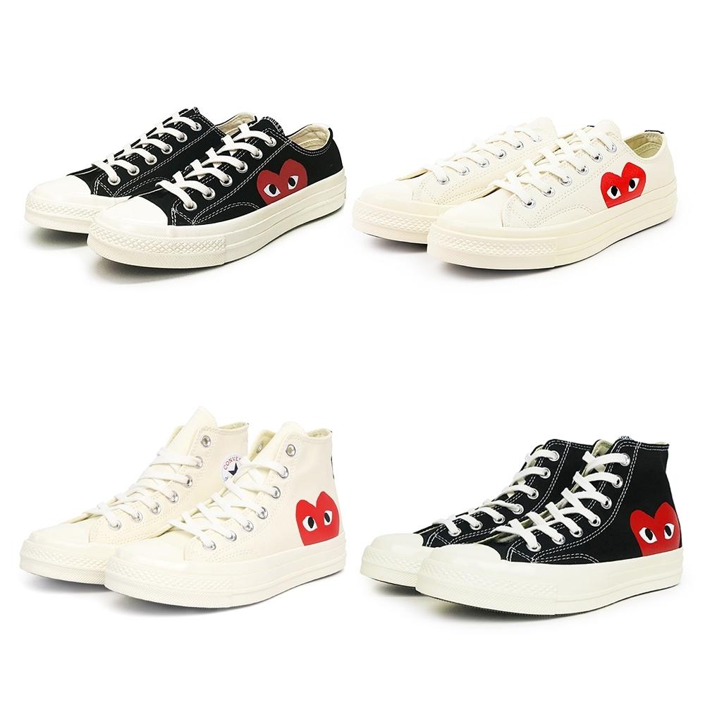 COMME des GARCONS play Converse 聯名帆布鞋 (四款可選)
