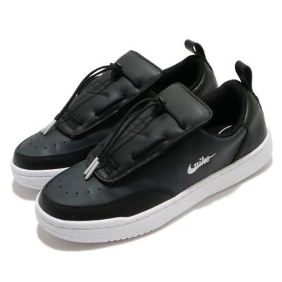 Nike 休閒鞋 Court Vintage 運動 女鞋 輕量 皮革 簡約 舒適 球鞋 穿搭 黑 白 CK7900001