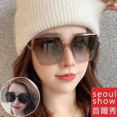 seoul show首爾秀 個性多邊形切邊防爆太陽眼鏡UV400墨鏡 9916