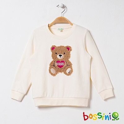 bossini女童-圓領厚棉上衣03乳白