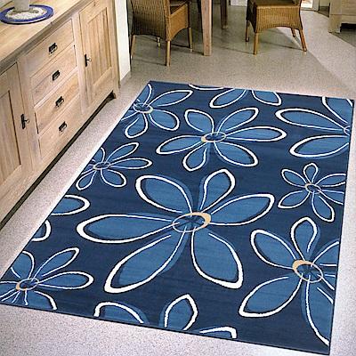 Ambience 比利時Shiraz 時尚地毯-花放藍 160x230cm