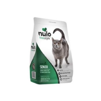 NULO紐樂芙-無穀高肉量高齡貓-阿拉斯加鱈魚+蔓越莓 12lb (5.44kg)