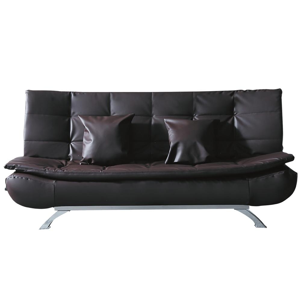 文創集 吉賽普 現代透氣皮革機能沙發/沙發床(三色可選+展開分段式沙發/沙發床二用設計)-190x116x40cm免組